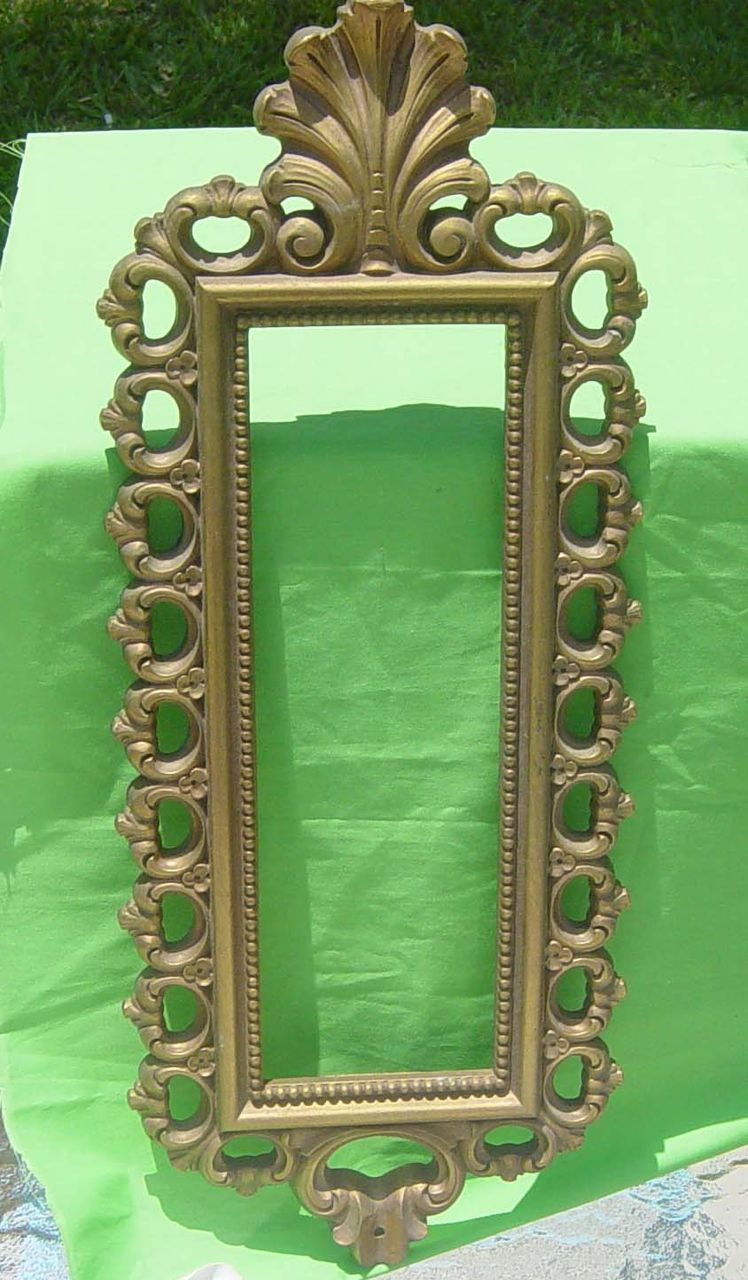 Vintage Homco 1976 Decorative Picture  Frame