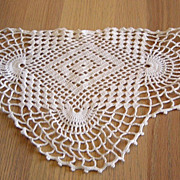 SOLD Vintage Crocheted Scalloped Design Doily