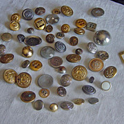 SOLD Vintage Metal  Button Lot