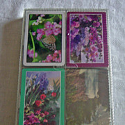 SALE Vintage Floral Scenic Playing Cards Kent Stardust