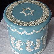 SOLD Vintage Wedgewood Style Round Metal Tin Made In Holland