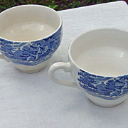SALE Vintage Ironstone Lady Liberty Cups Set Of Two