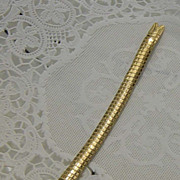 SALE Vintage Hong Kong Goldtone Stainless Steel Watch Band