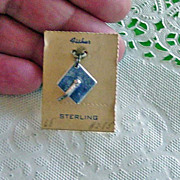 SALE Vintage Fisher Sterling Silver Graduation Cap Charm Old Stock