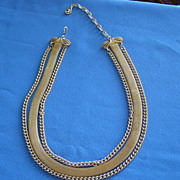 SALE Vintage Mesh Chain Three Strand Necklace