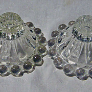 SALE Vintage Anchor Hocking Boopie Glass Bubble Candle Holders