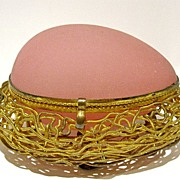 SOLD Palais Royal French Pink Opaline Nest Egg