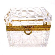 SOLD BACCARAT Rectangular Box with Fine Ormolu Mounts