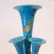 SOLD Unusual French 19th Century Opaline Epergne