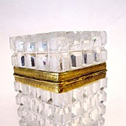 SOLD French 19th Century Cut Crystal Box