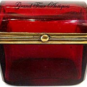 SOLD Miniature French Ruby Red Rectangular Box