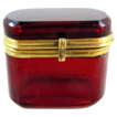 Miniature French Ruby Red casket