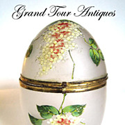 SOLD Victorian enamelled egg circa 1880
