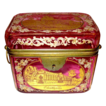 Bohemian 19th Century Cranberry Engraved box