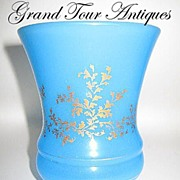 SOLD French circa 1840 Blue Opaline Beaker