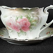Lovely R.S. Prussia Porcelain Sauce Boat with Underliner Plate. Free Domestic Shipping