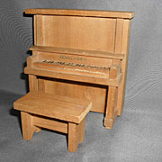 Converse Dollhouse Upright Piano and Bench - 1930's