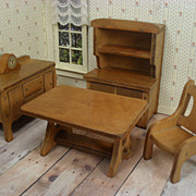 Grand Rapids Doll House Dining Room Furniture - 1930's