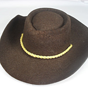 Wool Felt Cowboy Hat for Terri Lee or Jerri Lee Doll. 1950's