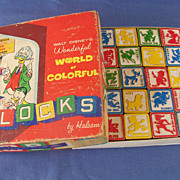 1961 Walt Disney Halsam Blocks with Box