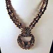 Jonne' Necklace Bronze Beaded Two Strand House of Schrager