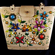 Enid Collins Original Jewel Garden Bucket Purse~Reduced