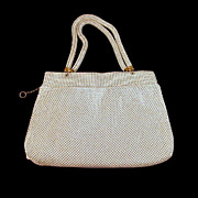 Whiting and Davis Beadlite Enamel Mesh Purse 1940s