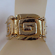 Bold Flashy Park Lane Bracelet Gold-tone Geometric Links
