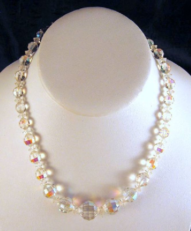 Laguna Faceted AB Crystal Necklace