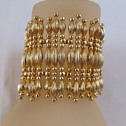 Monet Minaret Gold-tone Wide Bracelet Book Piece