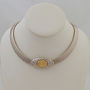 KJL for Avon Omega Chain Gas-pipe Choker Silver-tone Kenneth J. Lane