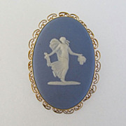 Wedgwood Floral Girl Muse Brooch Pendant Van Dell GF