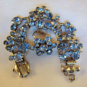 DeLizza & Elster Juliana Lt. Sapphire Blue R/S Wire-Over Bracelet & Ring