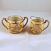 Lenox Sterling Silver Overlay Creamer Sugar Bowl Monogram B