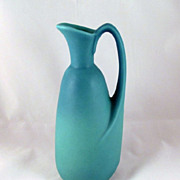 "Van Briggle Ming Blue Ewer Pitcher #322 9"" Tall 1950s"