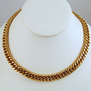 Monet Chunky Curb Chain Necklace Gold-tone