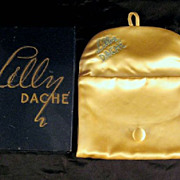 Lilly Dache Vintage Clutch Purse Yellow