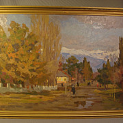 Aleksei Ivanovich Pisarev (1909-1970) Russian Listed Artist Painting dated 1957