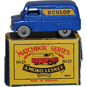 Vintage Lesney  Matchbox 25A Dunlop Van Metal Wheels 1956