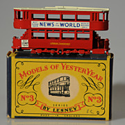 Matchbox Models of Yesteryear Y3-1 1907 London Tram Car