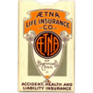 Antique 1905 AETNA LIFE INSURANCE Advertising Sewing Premium
