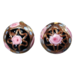 Vintage Venetian Art Glass WEDDING CAKE Clip-Back Earrings