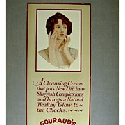Old Orig. 1920s GOURAUD'S Oriental Cold Cream Cosmetic Sign