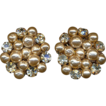 Miriam Haskell Rhinestone Baroque Faux Pearl Earrings