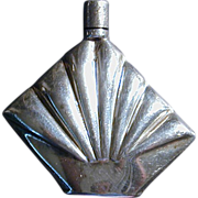 Modernist Sterling Silver Mexican Miniature Perfume Bottle