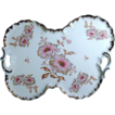 Big Old MITTERTEICH Bavarian Cockeyed Butterfly Floral Platter
