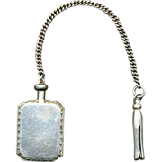 Sterling Silver Chatelaine Perfume Bottle w/ Clothespin Charm