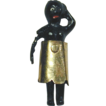 Antique Victorian Teeny Mini Miniature Blackamoor Doll w/ 14K Gold Skirt
