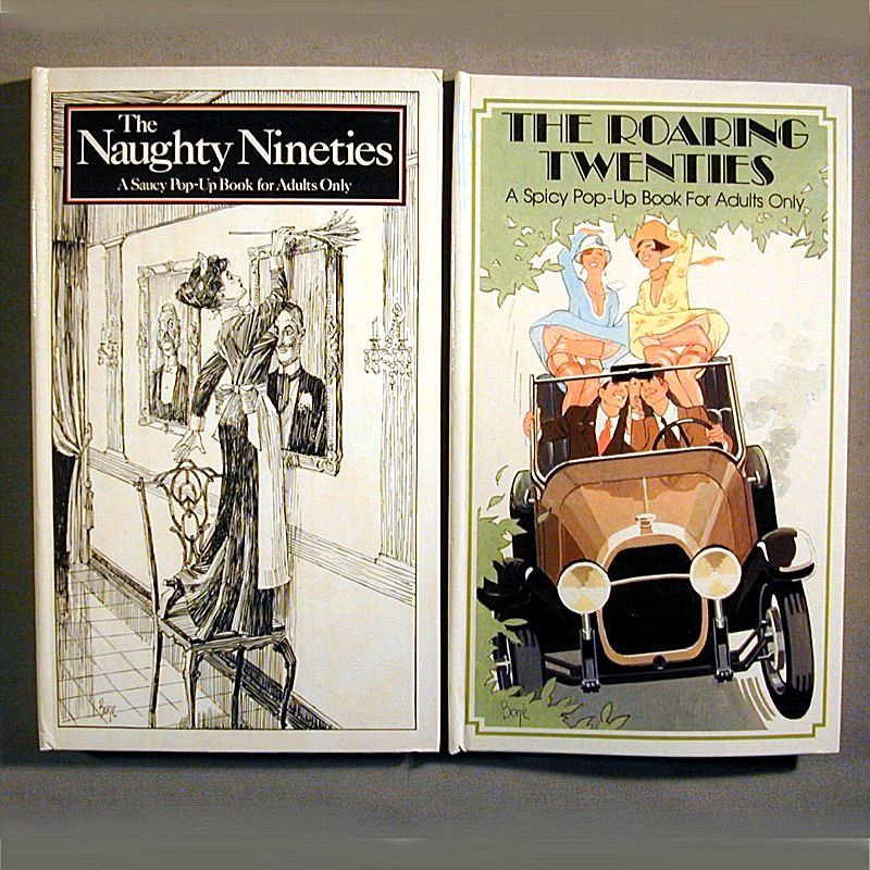 2 Great Pop-Up Books Roaring Twenties & Naughty Nineties (1890s)