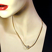 Vintage Christian Dior Necklace & Earrings Set - Crystal Rhinestones